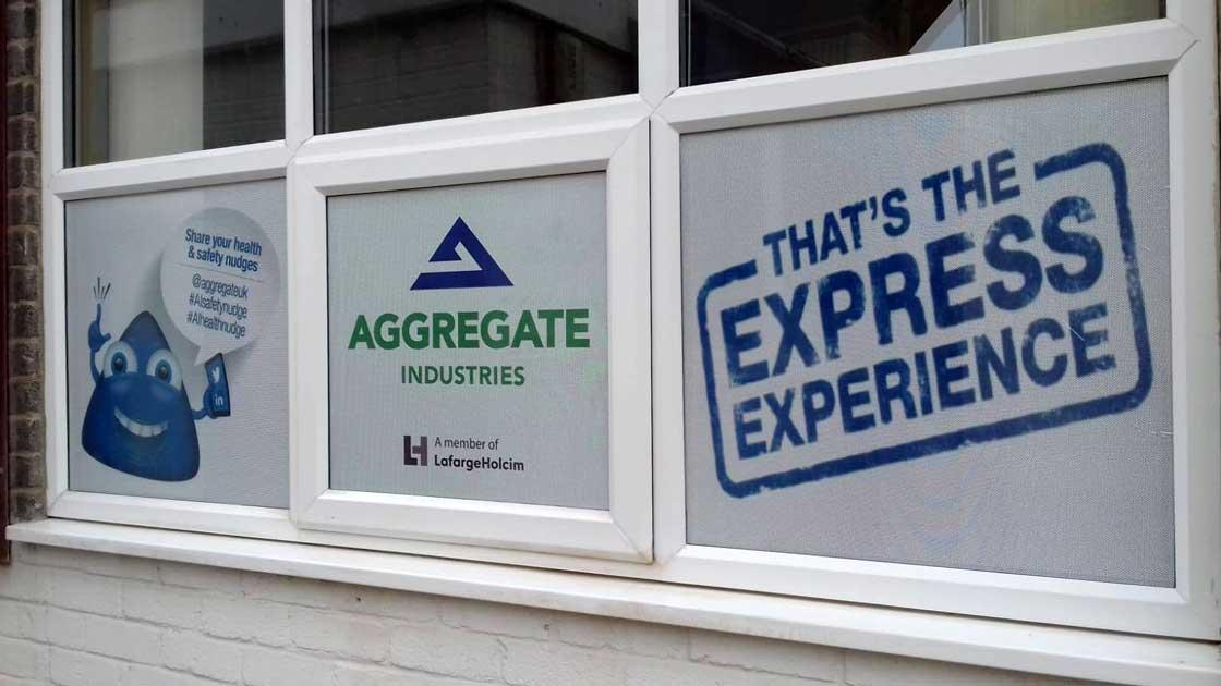 Aggregate Industries Window Vinyl